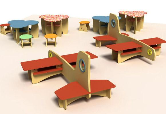 GREENPLAY by SKYLINE DESIGN // green furniture for kids environments