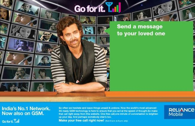 Hrithik's New Reliance Ads