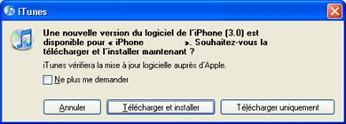 télécharger firmware iphone 3.0