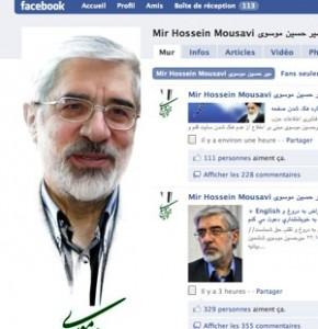 mousavi-facebook-iran