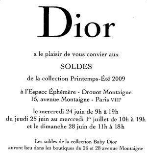 Soldes Dior 1