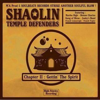 Chronique de disque pour Muzzart, Chapter II : Gettin' the Spirit par Shaolin Temple Defenders