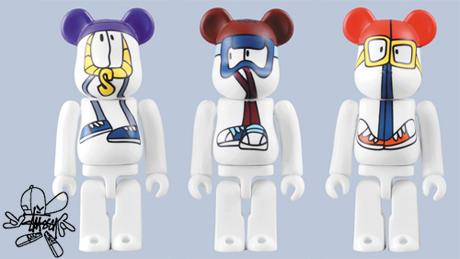 MEDICOM X STUSSY X REAS - WAYBACK THROWBACK 2009 - 100% BE@RBRICK