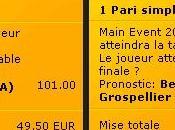 J'ai parié 100€ Bwin Durrr et/ou Elky atteindront table finale Main Event WSOP