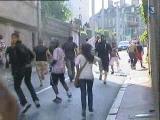 Manifestations violentes dans rues Limoges