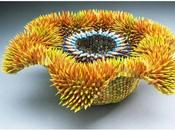 Sculptures crayons couleurs Jennifer Maestre