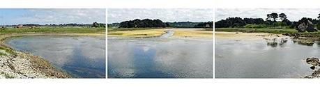 La retenue d'eau du moulin de Balanec à Bugueles