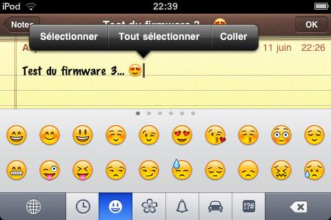 Test du firmware 3 sur iPod Touch