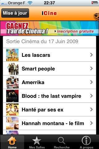 iCiné 6 applications iPhone gratuites « spécial actualité »