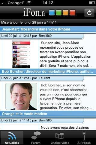 iFon 6 applications iPhone gratuites « spécial actualité »