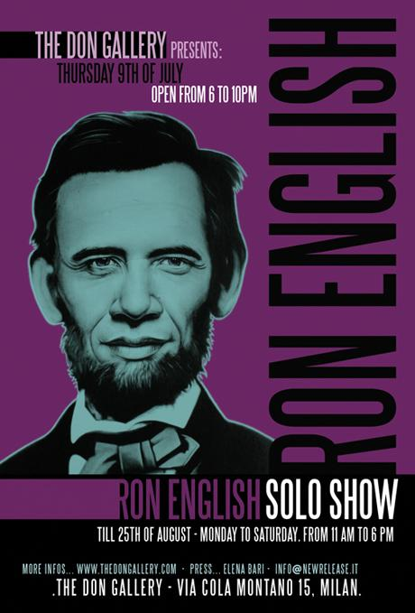 RON ENGLISH @ THE DON GALLERY - MILAN - JULY 9TH