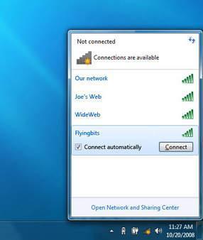 Liste des réseaux Wifi Seven