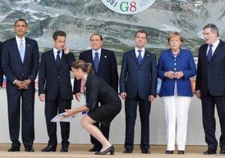 Carla remplace Nicolas Sarkozy au G8
