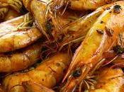 Crevettes sautées Ponzu plancha