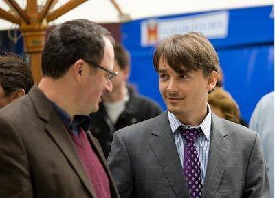 Boris Gelfand et Alexander Morozevich lors de la cérémonie d'ouverture © site officiel