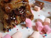 Carrés chocolat, caramel marshmallows