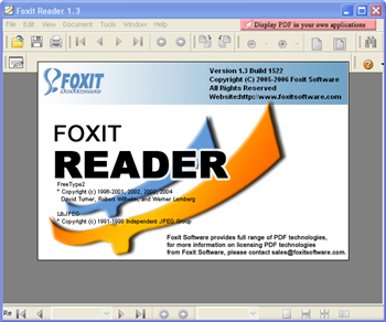 Foxit Reader v 3.0 - freeware