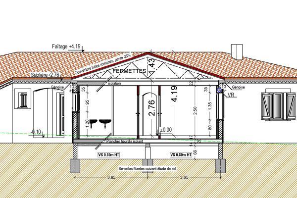 Conception de plan pour un autoconstructeur paperblog - Plan en coupe terrain et construction ...