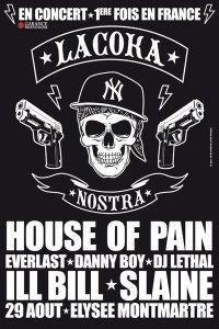 LA COKA NOSTRA aka HOUSE OF PAIN, ILL BILL & SLAINE en concert à PARIS