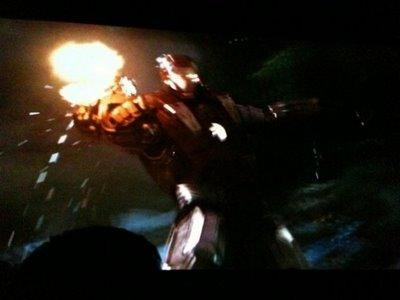 photos de la bande annonce teaser Ironman 2 du Comic con 2009 cinecomics