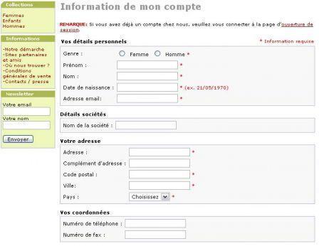 Quelques conseils sur les formulaires et la composition de pages Web