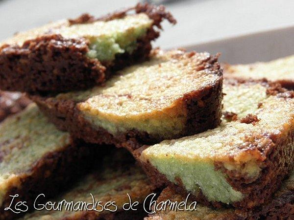 Financiers Bicolores Chocolat/Pistaches
