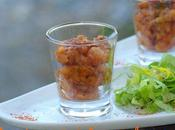 Tartare requin sauce basque