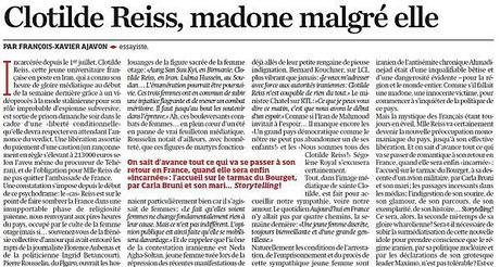 Sainte-Clotilde-Reiss, madone malgré elle... (Libération)