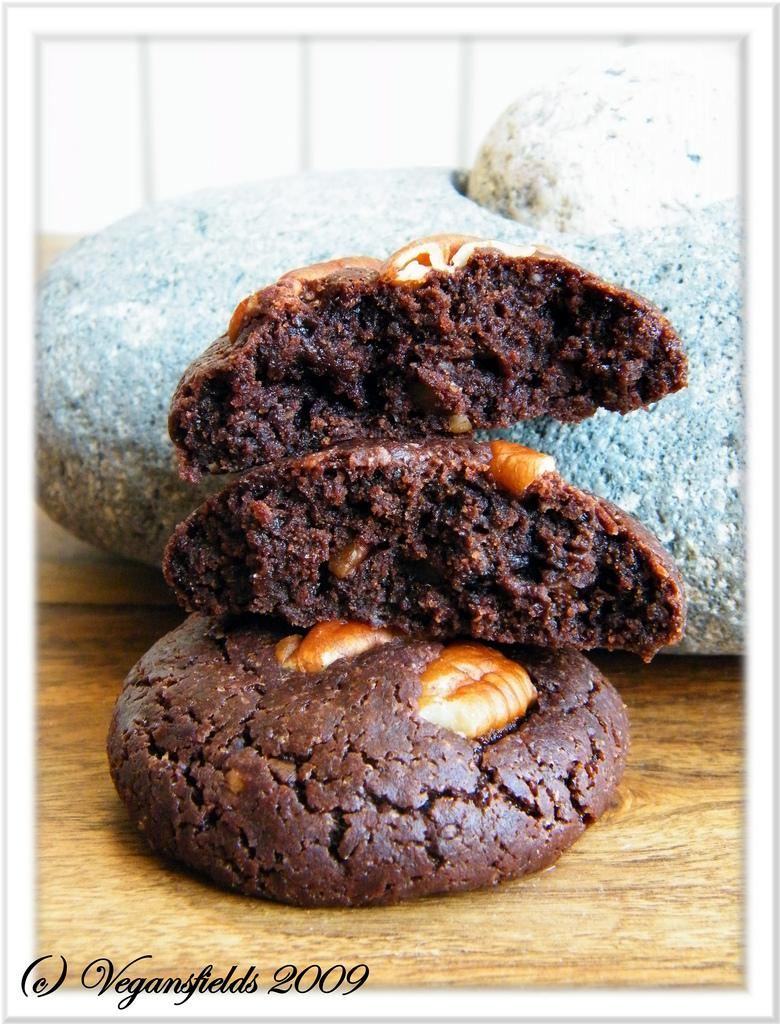 The fabulous Vegan Pecan Cookie-Brownie (sans oeuf, ni plv)