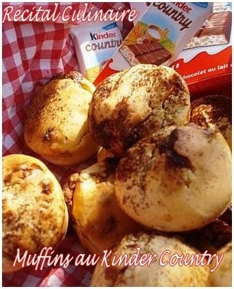 Muffins au Kinder Country