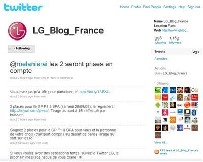 Marketing Viral: Concours LG sur Twitter