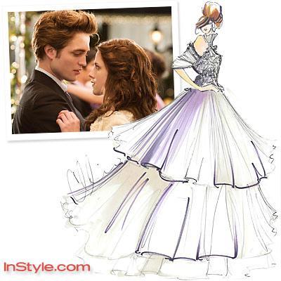 Des Stylistes Dessinent La Robe De Mariage De Bella Paperblog