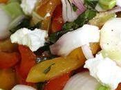 Salade poivrons confits ricotta