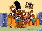 Simpsons bande d'Afros jaujaunes