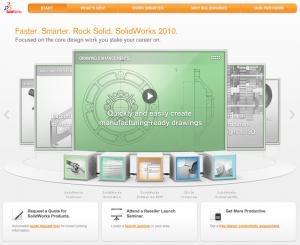 SolidWorks 2010 website Live - Click Here