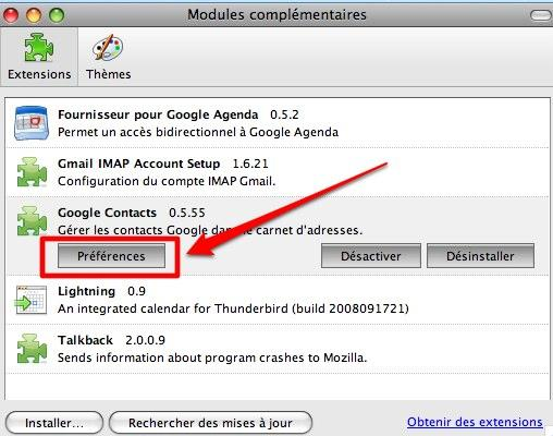 thunderbird gmail 7contacts 7 GMail: comment synchroniser les contacts GMail avec Thunderbird