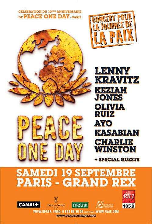 Concert 'Peace One Day' au Grand Rex, Paris, le 19 septembre 2009