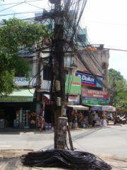 fatras de fils électriques à Hanoï