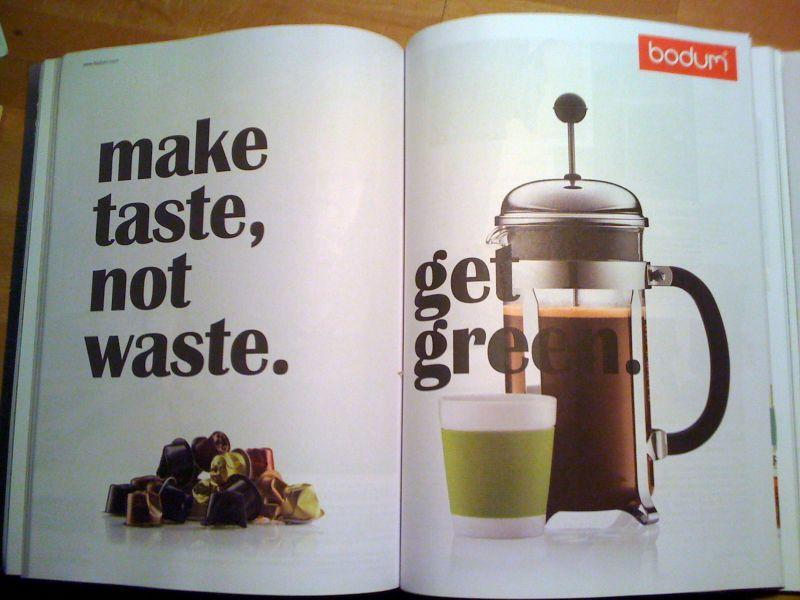 Pub comparative Nespresso/Bodum - Paperblog