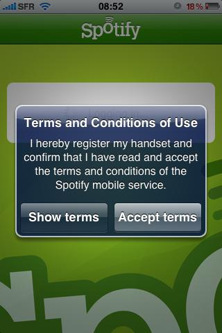 Spotify sur l'iPhone?