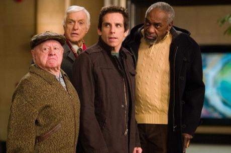 Mickey Rooney, Dick Van Dyke, Bill Cobbs, en compagnie de Ben Stiller