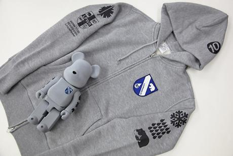 LOOPWHEELER BE@RBRICKS & ZIP HOODIES