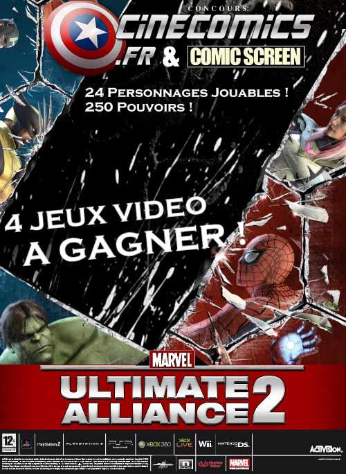 concours Marvel ultimate alliance 2