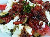 Miam Légumes grillés mozzarella, vinaigrette poivron