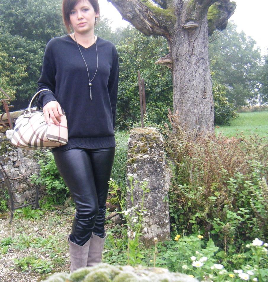 tenue stef slim cuir pull dad