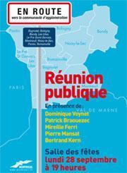 Une Délégation officielle de socialistes fontenaysiens à la réunion publique sur la Communauté d'Agglomération de l'Est Parisien a Montreuil lundi 28 septembre