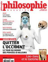couverture Philosophie Magazine Sept 2009