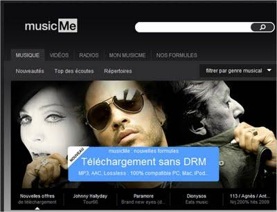 Music Me une alternative à l'iTunes Store