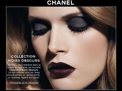 Chanel automne 2009 : collection noirs obscurs