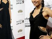 L'actrice Freida Pinto lors Middle East International Film Festival